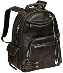 Brown Distressed Leather Backpack